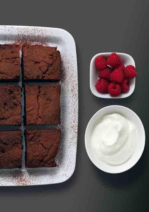 Echte Brownies Aus Dunkler Schokolade