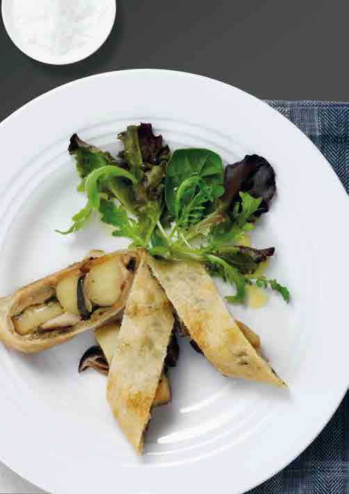 Kartoffel Shiitake Strudel