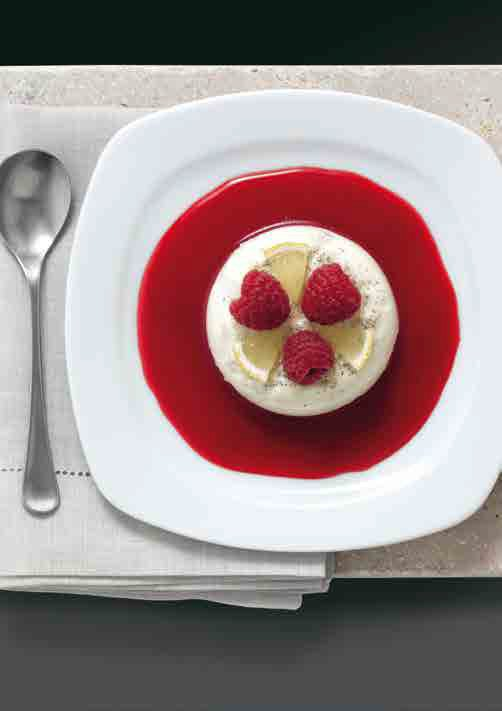 Limettenmousse Mit Himbeercoulis