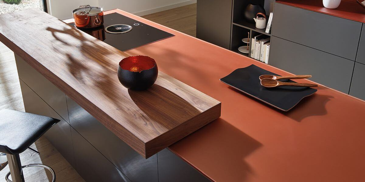 Glasarbeitsplatte Copper Orange