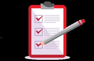 Icon für Schritt der Küchencheckliste - Daten eintragen