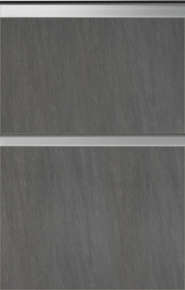 Kuechenfront Basalt Grau Keramik 57FG281