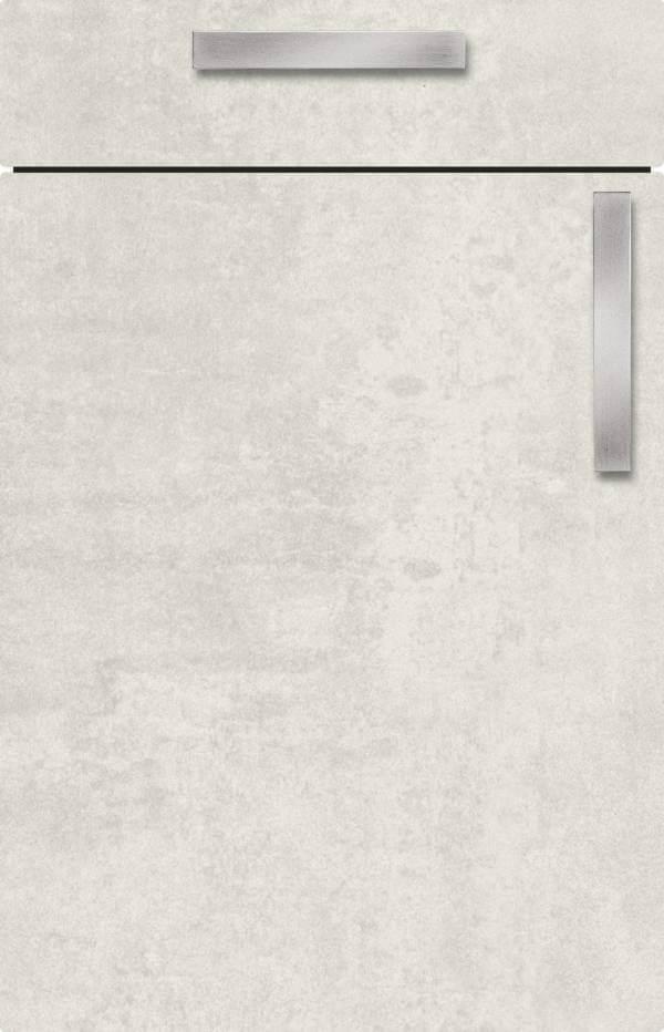 Kuechenfront Concrete White Betonoptik 132