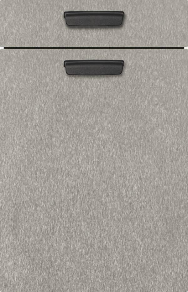 Kuechenfront Edelstahlfarbig Metalloptik 376
