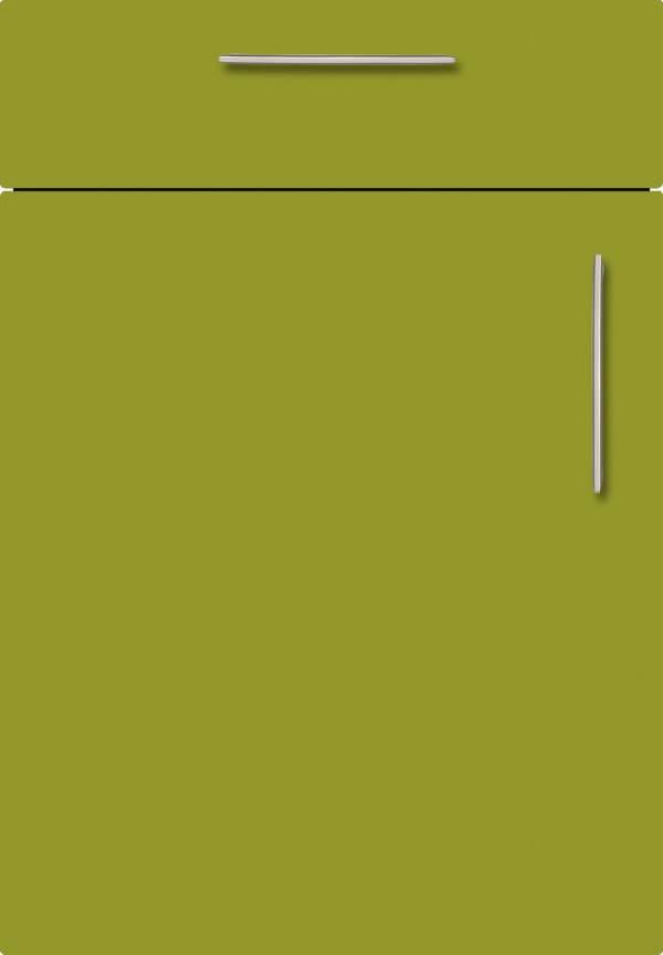 Kuechenfront Limette Seidenmatt 429