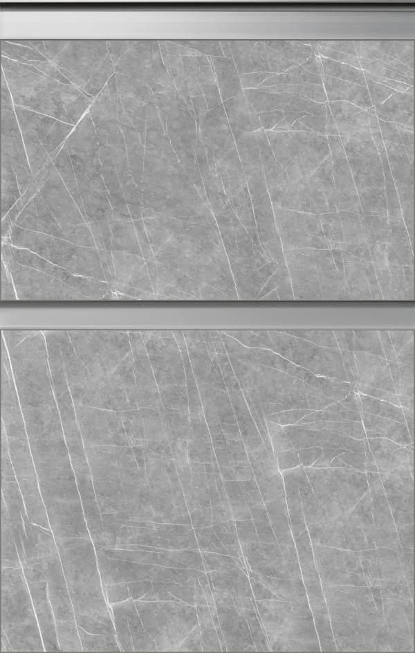 Grifflose Küchenfront in Steinoptik von Bauformat Zahastone 57FG284