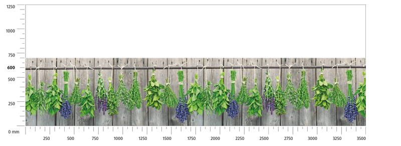 Glas Küchenrückwand mit Motiv M70 Herbal Nature