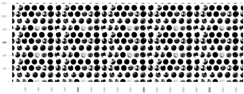 Glas Küchenrückwand mit Motiv N09 Polka Dots