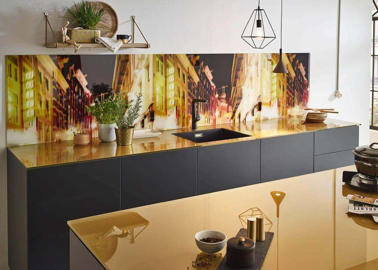 Inspiration Glas Arbeitsplatte Brass1 Gold