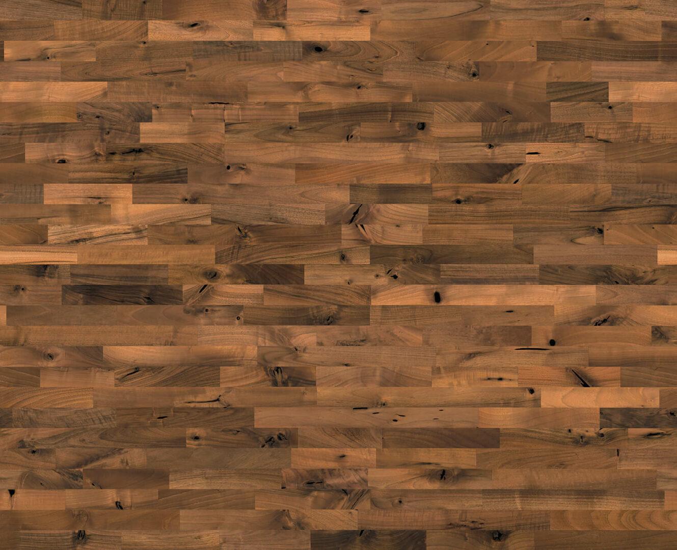 Massiv Echtholz Arbeitsplatte Europaeischer Nussbaum Rustikal 513