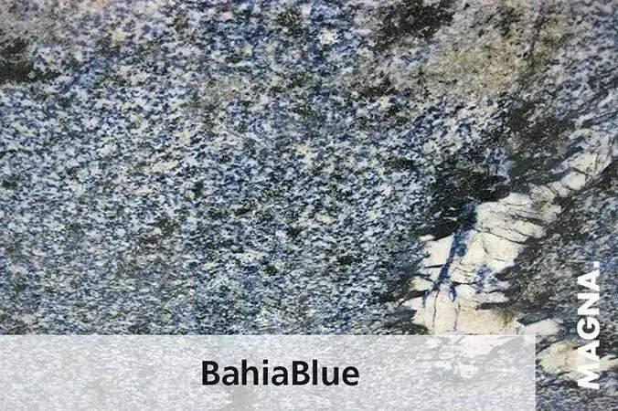 Naturstein Kuechenarbeitsplatte Bahiablue