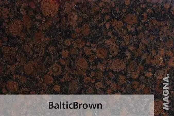 Naturstein Kuechenarbeitsplatte Balticbrown