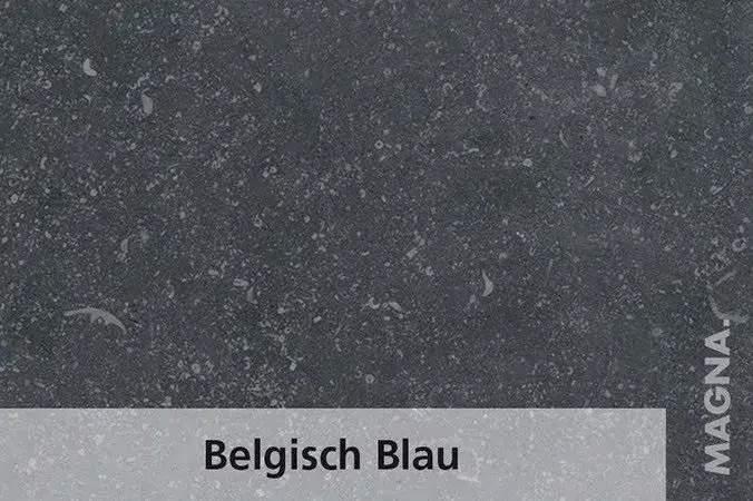 Naturstein Kuechenarbeitsplatte Belgisch Blau
