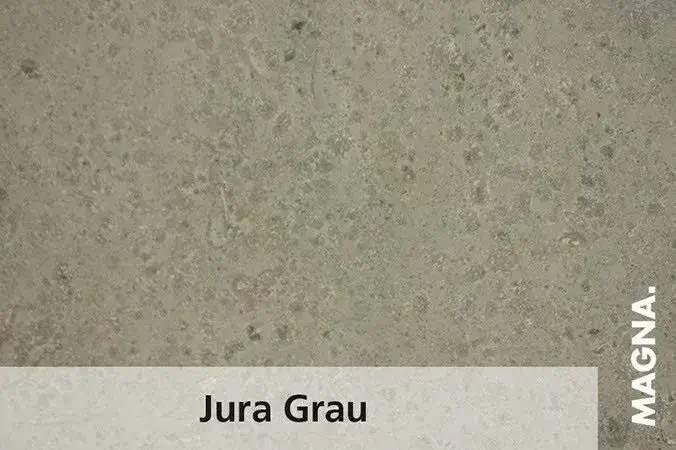 Naturstein Kuechenarbeitsplatte Jura Grau