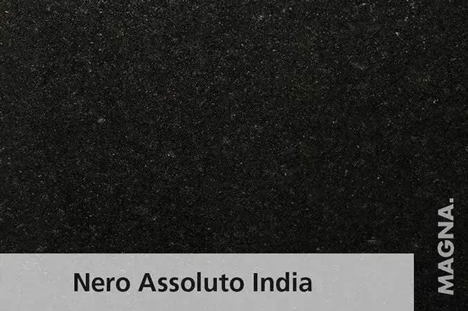 Naturstein Kuechenarbeitsplatte Nero Assoluto India