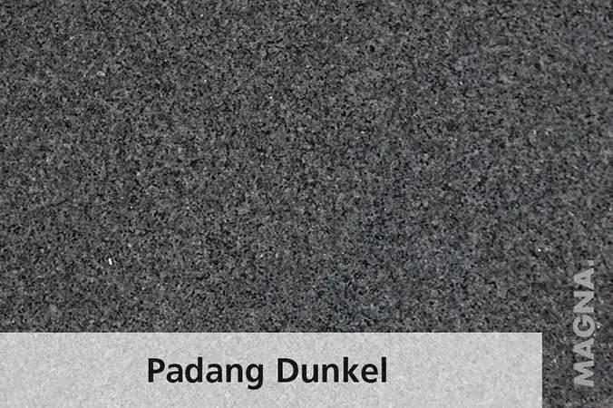 Naturstein Kuechenarbeitsplatte Padang Dunkel