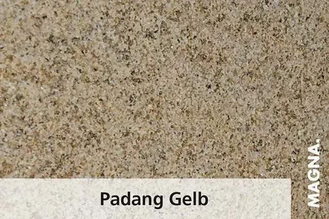 Naturstein Kuechenarbeitsplatte Padang Gelb