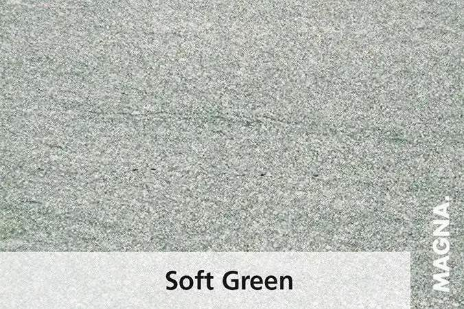 Naturstein Kuechenarbeitsplatte Soft Green